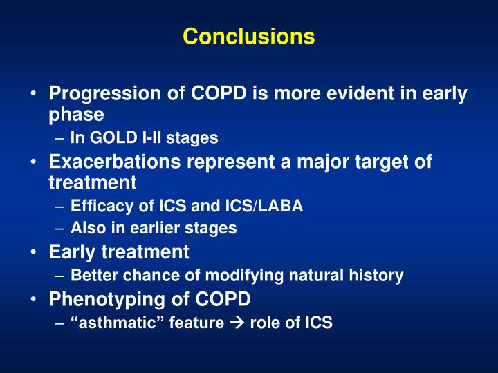 Progression of COPD is more evident in early phase