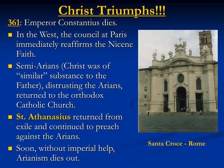 Christ Triumphs!!!