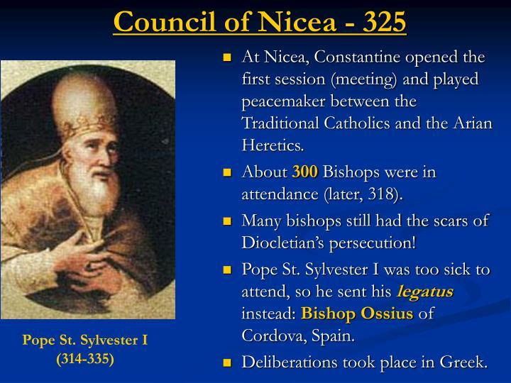 Council of Nicea - 325