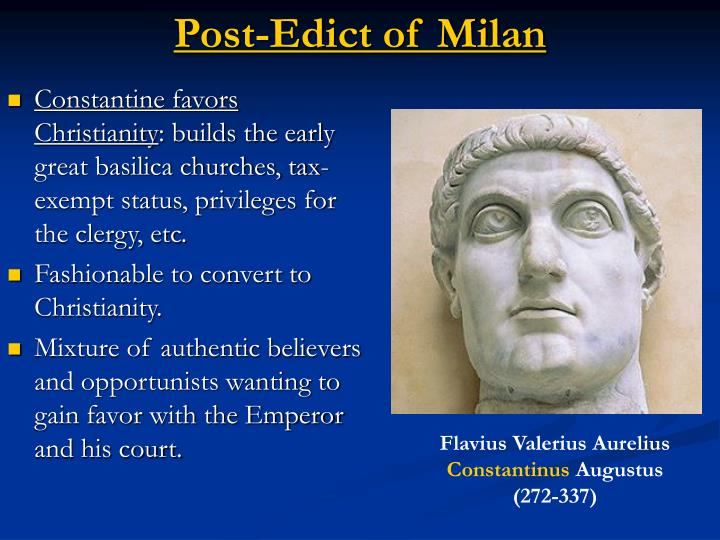 Post-Edict of Milan