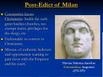 post edict of milan
