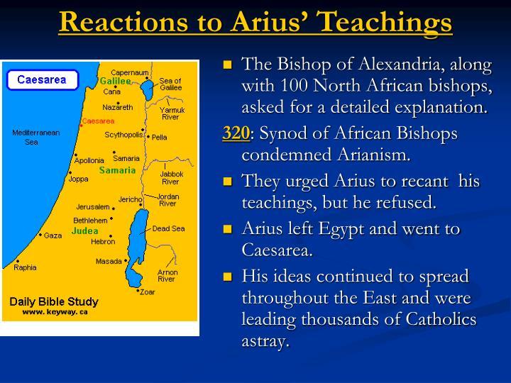 Reactions to Arius' Teachings