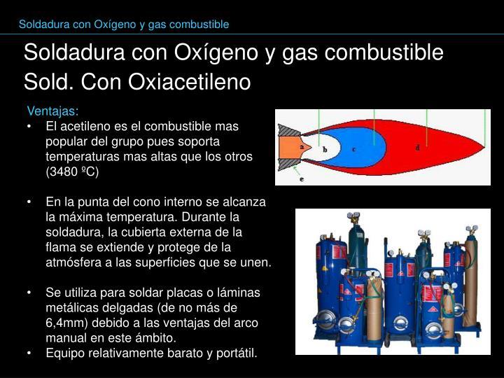 Soldadura con Oxígeno y gas combustible