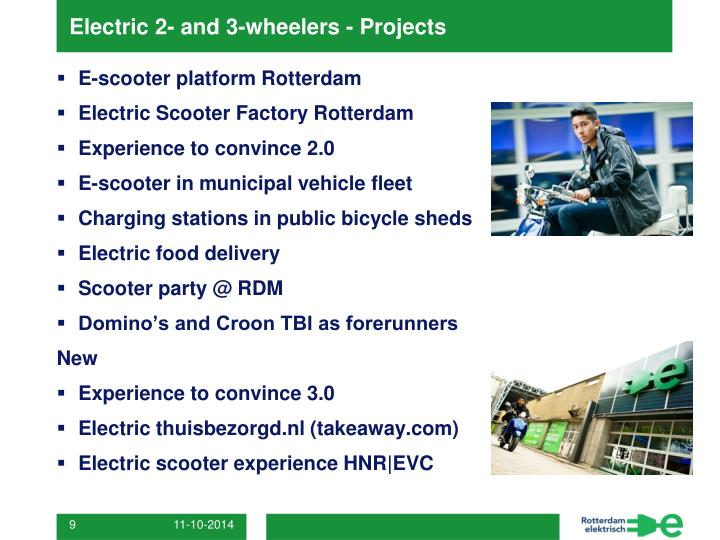 Electric 2- and 3-wheelers - Projects