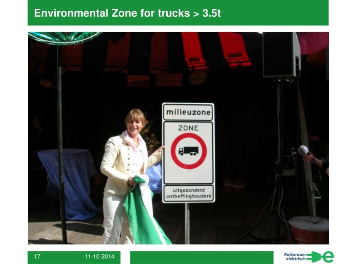 Environmental Zone for trucks > 3.5t
