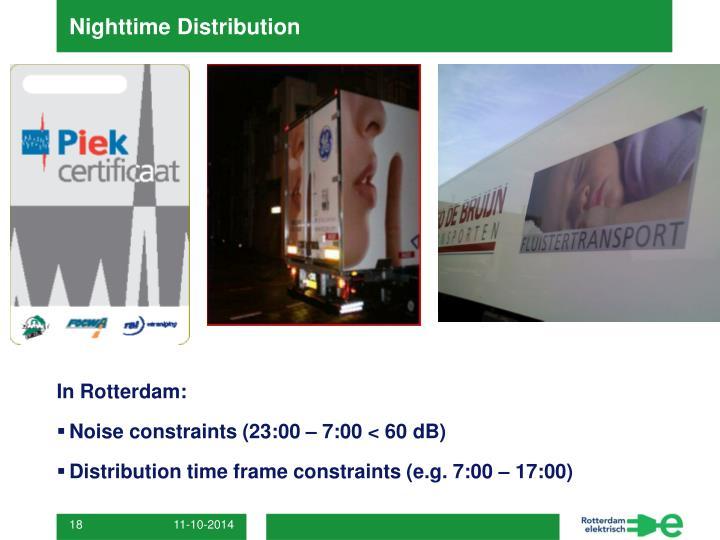Nighttime Distribution