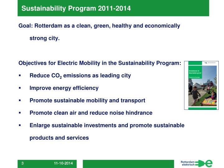 Sustainability Program 2011-2014