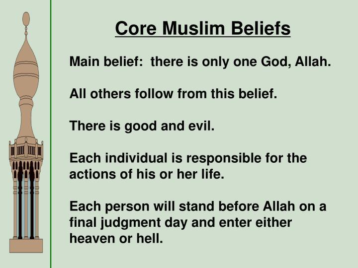 Core Muslim Beliefs