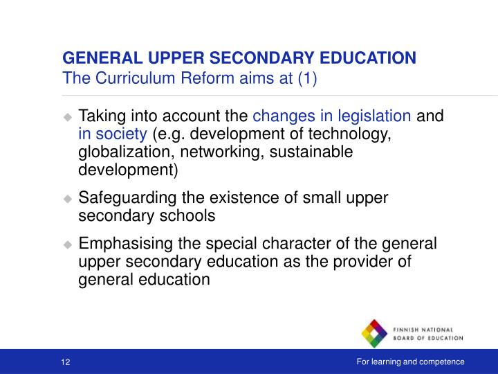 GENERAL UPPER SECONDARY EDUCATION