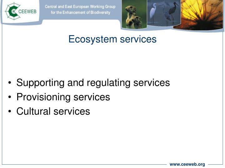 Ecosystem services1