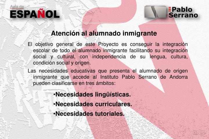 Atención al alumnado inmigrante