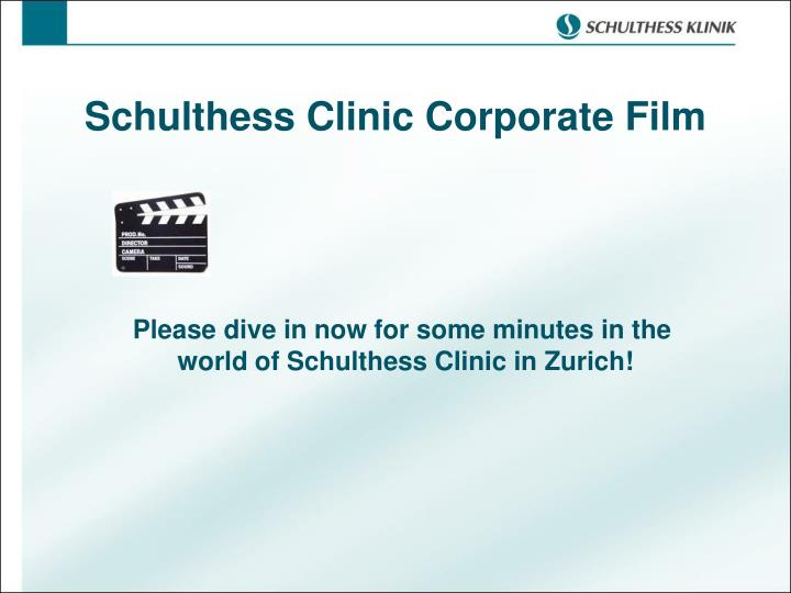 Schulthess Clinic Corporate Film