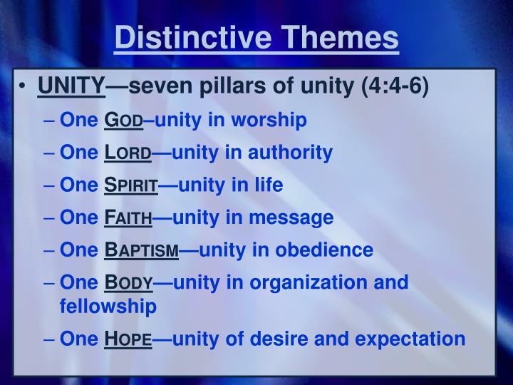 Distinctive Themes