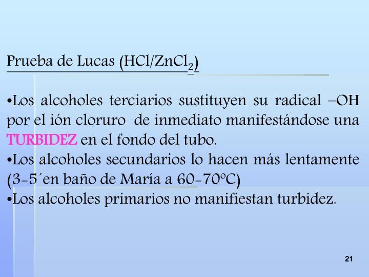 Prueba de Lucas (
