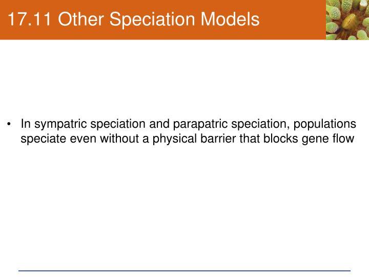 17.11 Other Speciation Models