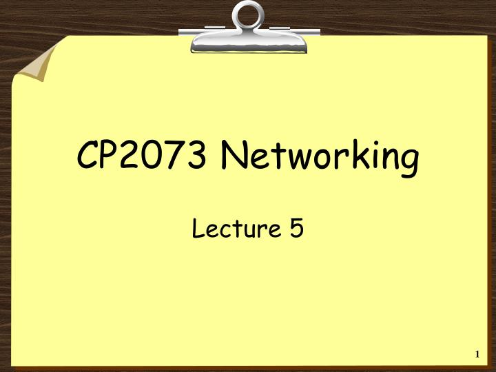 Cp2073 networking