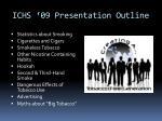 ichs 09 presentation outline