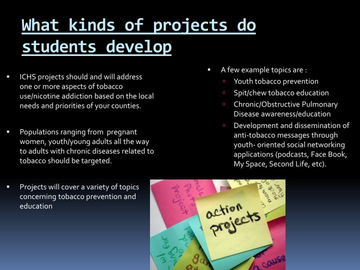 What kinds of projects do students develop