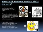 where will students conduct their projects