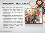 inequidad educativa