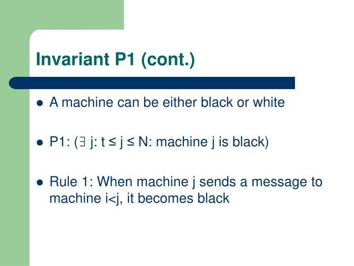 Invariant P1 (cont.)