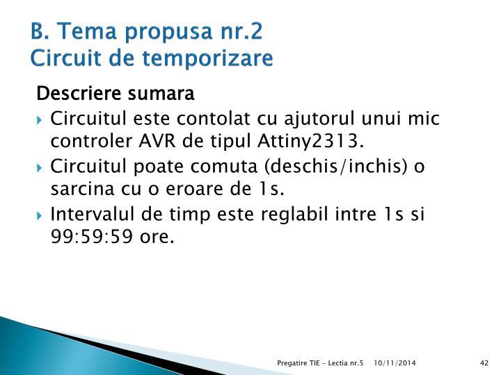 B. Tema propusa nr.2