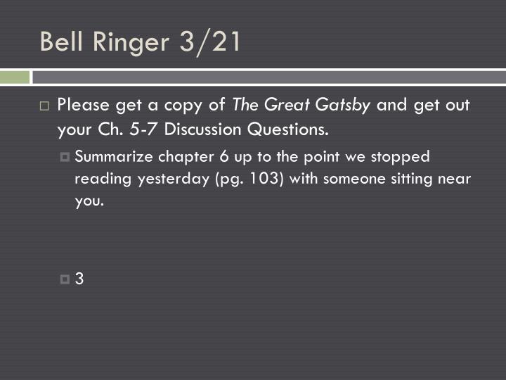 Bell Ringer 3/21