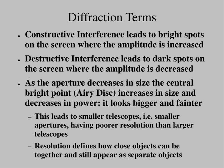 Diffraction Terms