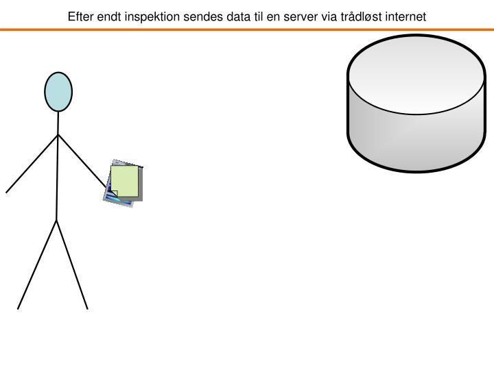 Efter endt inspektion sendes data til en server via trådløst internet