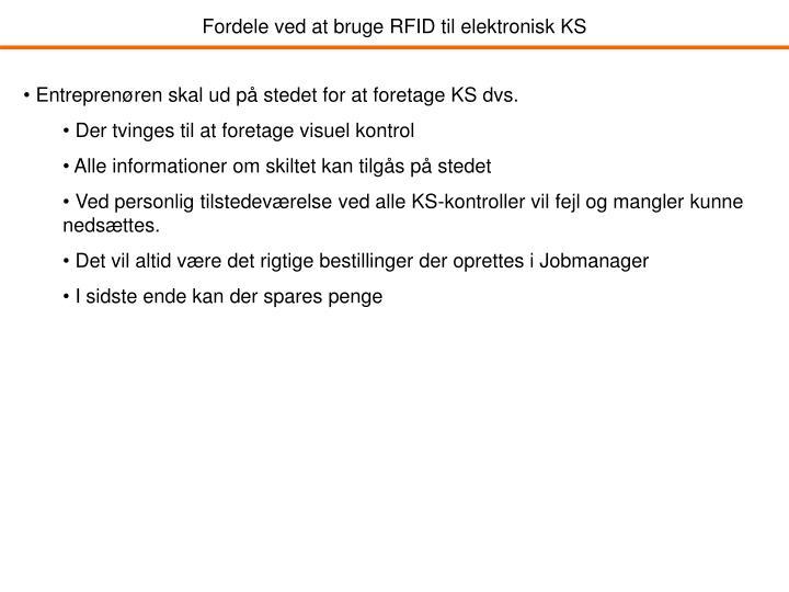 Fordele ved at bruge RFID til elektronisk KS