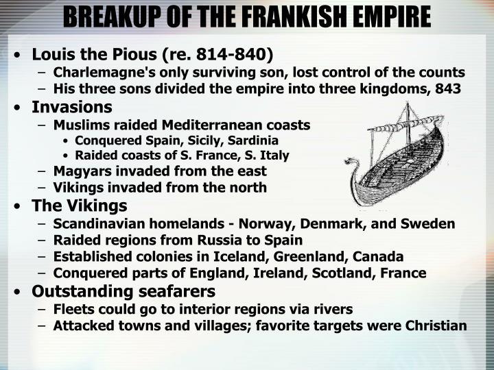 BREAKUP OF THE FRANKISH EMPIRE
