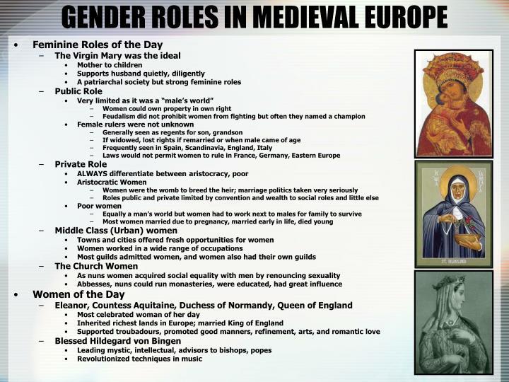 GENDER ROLES IN MEDIEVAL EUROPE