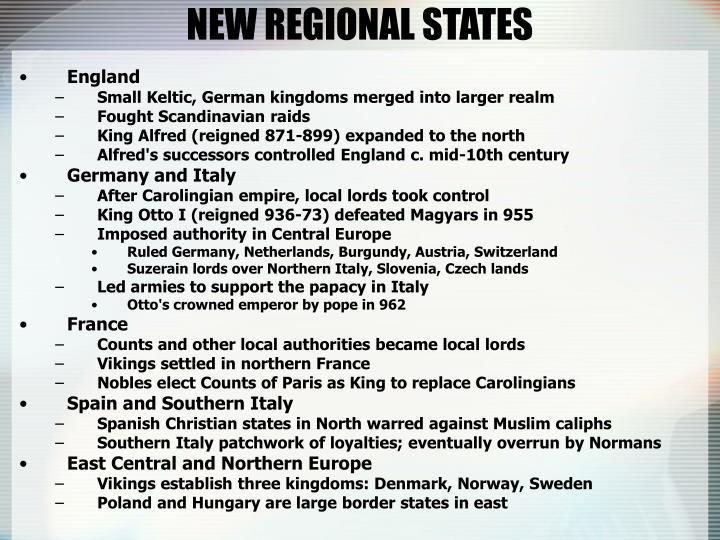 NEW REGIONAL STATES