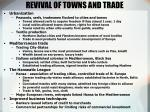 revival of towns and trade