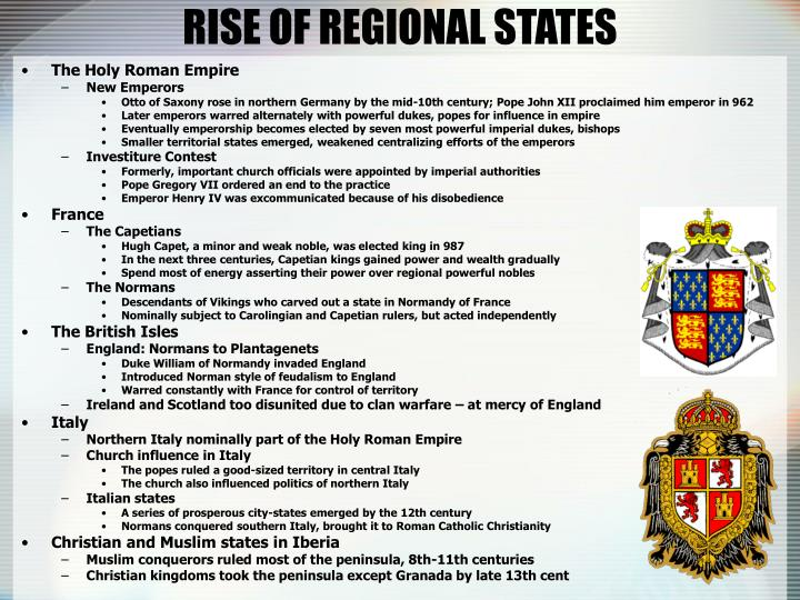 RISE OF REGIONAL STATES