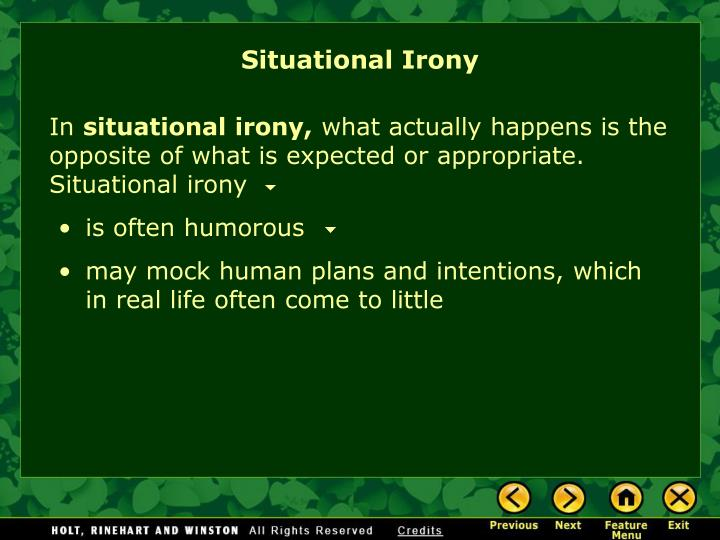 Situational Irony