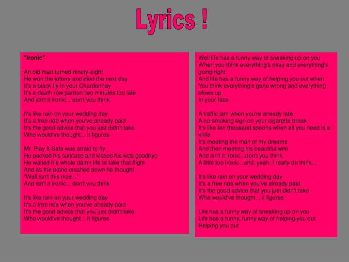 Lyrics !