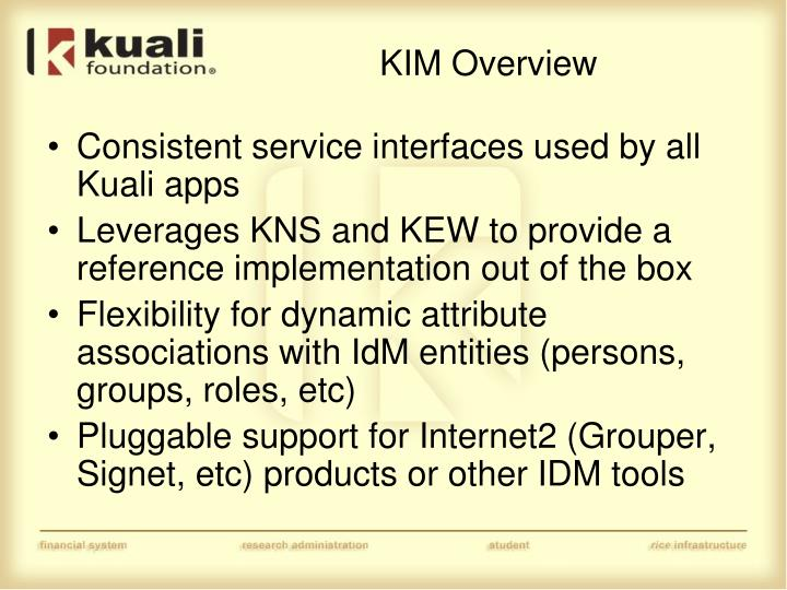KIM Overview