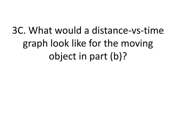 3C. What would a distance-vs-time graph look like for the moving object in part (b)?