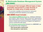iii multimedia database management system mm dbms
