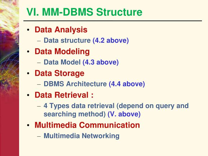 VI. MM-DBMS Structure