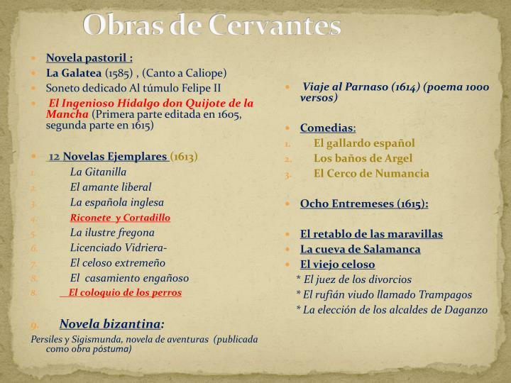 Obras de Cervantes