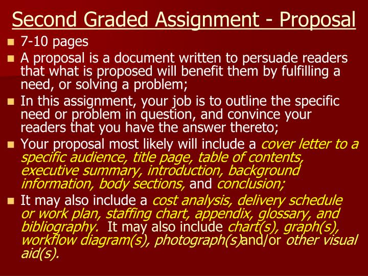 Second Graded Assignment - Proposal