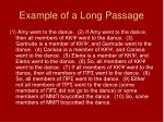 example of a long passage
