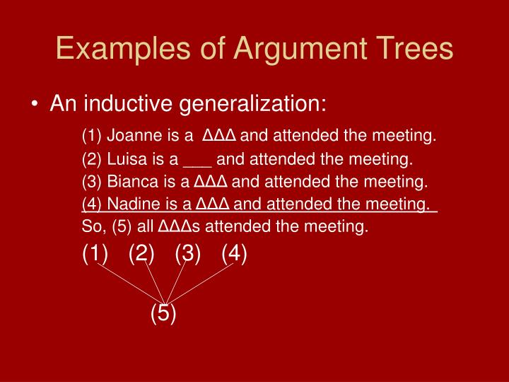 Examples of Argument Trees