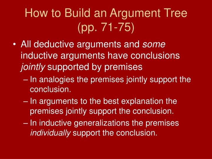 How to Build an Argument Tree
