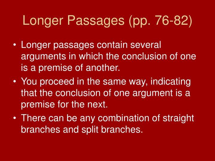 Longer Passages (pp. 76-82)