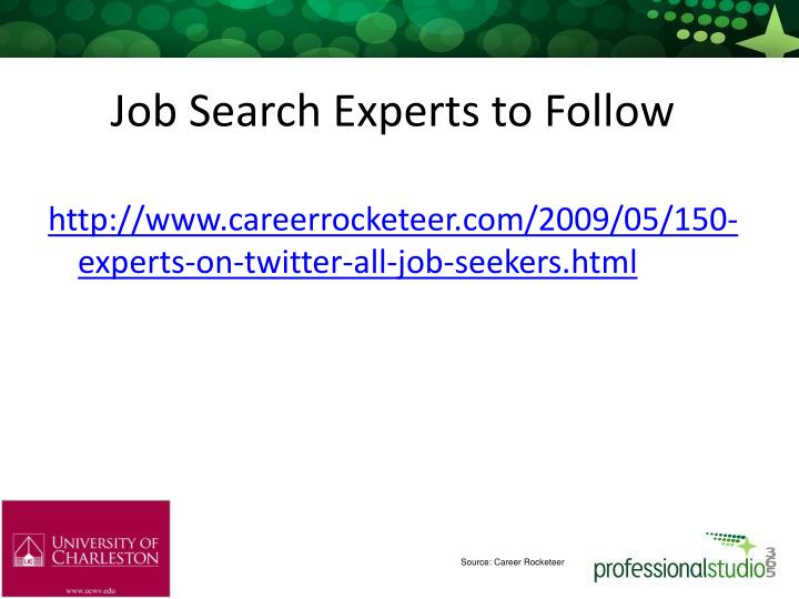 Job Search Experts to Follow
