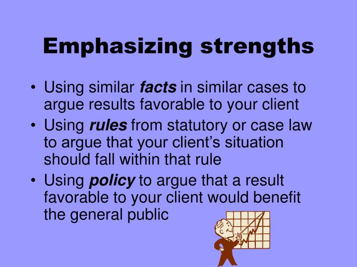 Emphasizing strengths