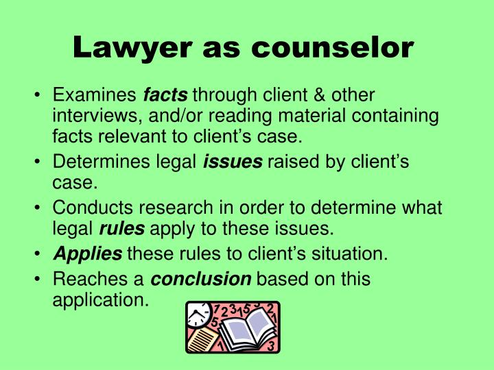 Lawyer as counselor